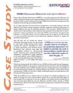 SpencerMetrics DMBA case study
